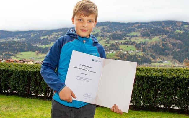 Leopold Winter ist der jüngste Erfinder Österreichs.